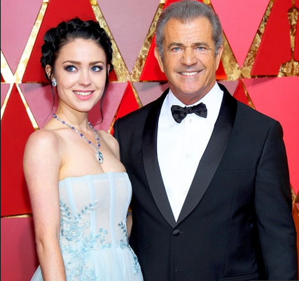 Mel Gibson and Rosalind Ross on the Oscars red carpet