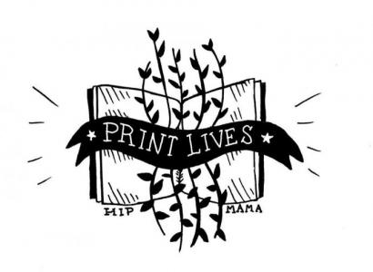 "A cute illustration reads ""print lives"""