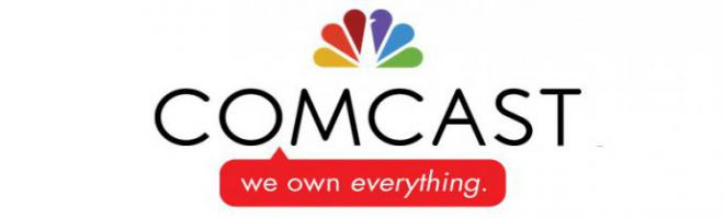 logo reads: comcast, we own everything