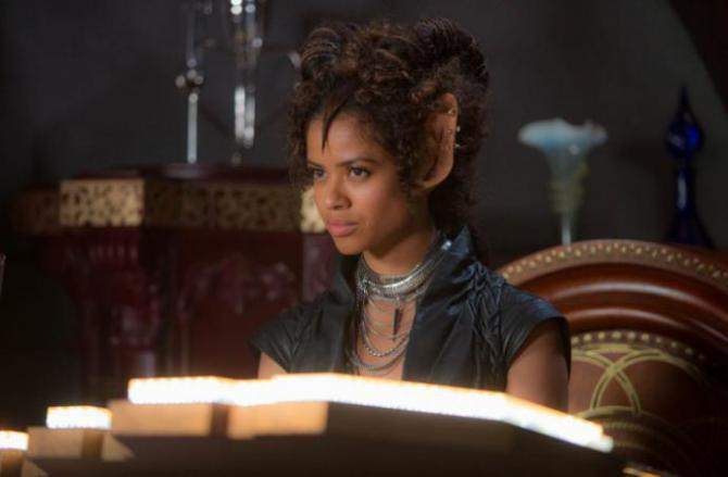 Gugu Mbatha-Raw with giant ears in sci-fi movie Jupiter Ascending