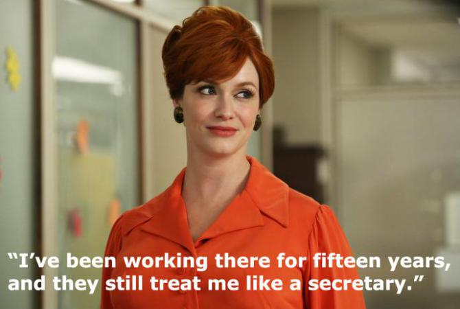 a quote from Mad Men's joan