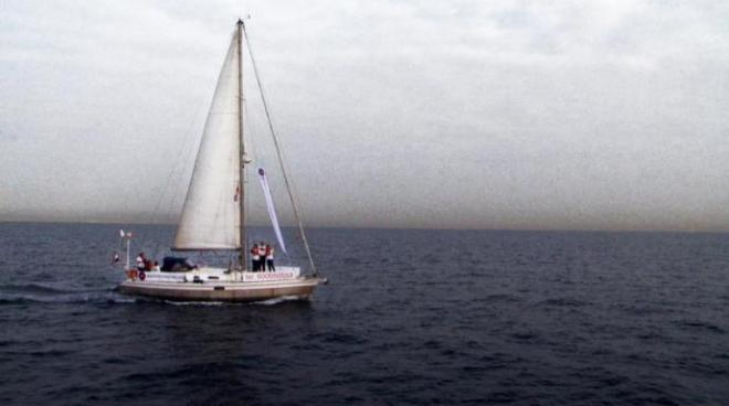 The sailboat from Women on Waves