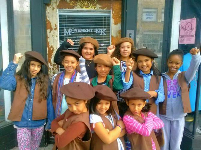 a crowd of girls in the radical brownies