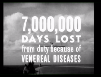 a still from the war film warns about death from venereal disease