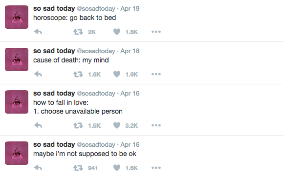 tweets from sosadtoday