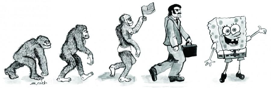 Ape drawing by Martha Rich