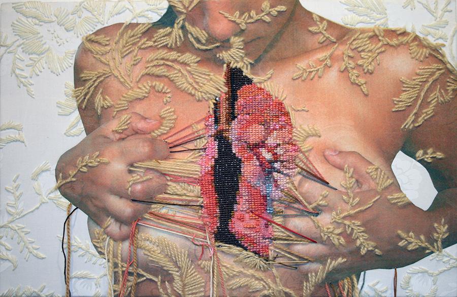 Mixed media art by Ana Teresa Barboza.