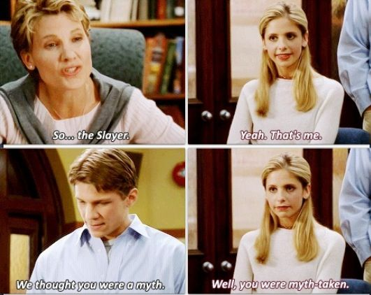 Buffy making a pun