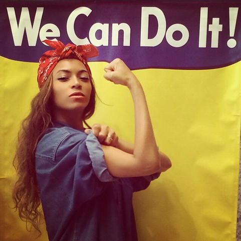 beyonce posing as rosie the riveter