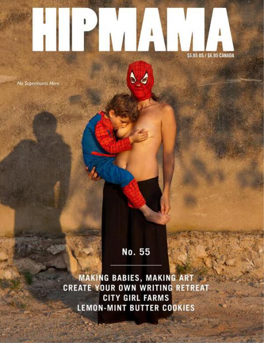 The cover of Hip Mama featuring a breastfeeding child