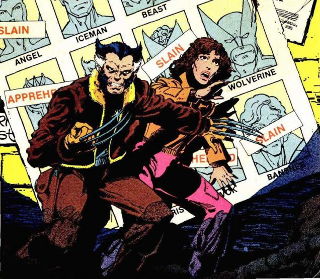 the cover of the original x-men comic featuring wolverine and kitty pryde