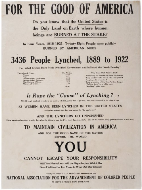 naacp poster about lynching