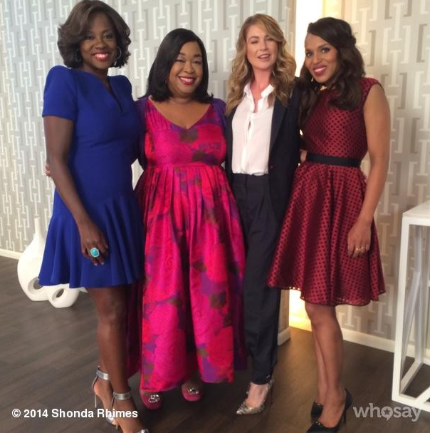 shonda rhimes surrounded by actresses