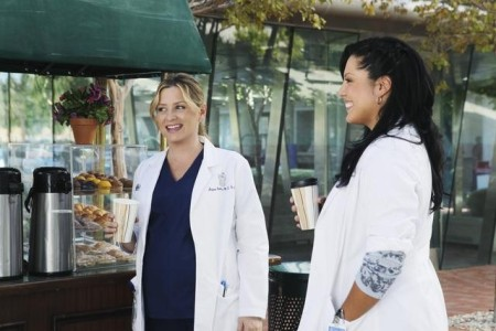Callie and Arizona outdoors at the coffee cart.