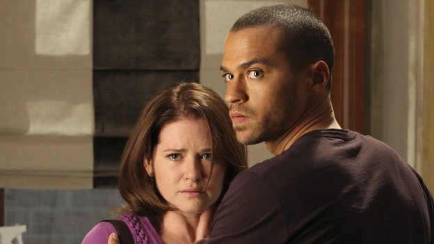 Doctor Kepner and Doctor Avery. Kepner's face is streaked with tears and Avery looks protective. And pissed.