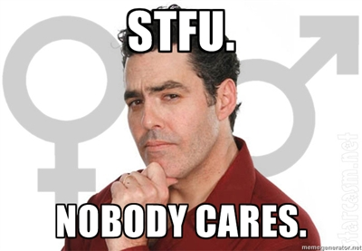 photo of adam carolla with text that reads STFU