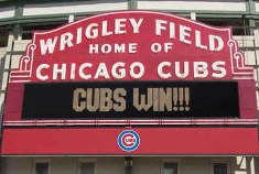 Wrigley Field cheers on the Cubs